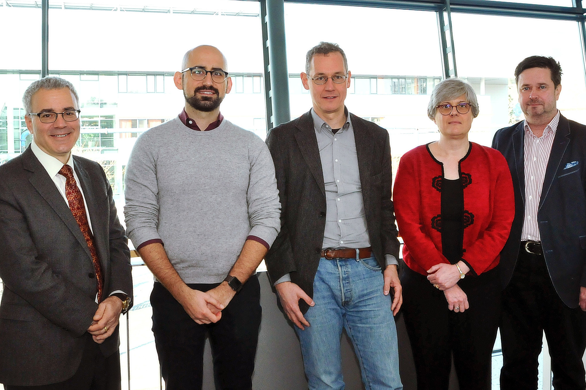The scientific advisory board (Dr. G. Hripcsak, A. Zehir, PhD, Prof. Dr. S. Schulz, L. McShane, PhD, Dr. K.-U. Heitmann) (Photo: L. Laufer)
